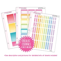 Binder Kit - Checklist Essentials - Rainbow