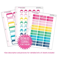 Binder Kit - Colorblock Essentials - Colorful