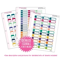 Binder Kit - Colorblock Essentials - Gemtones