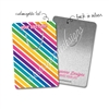 Customized Rectangle Metal Bookmark - Bold Rainbow Stripes