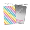Customized Rectangle Metal Bookmark - Pastel Rainbow Stripes
