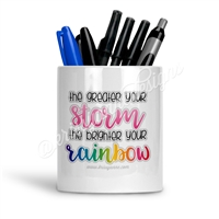 KAD Exclusive Pen Cup - Brighter Your Rainbow