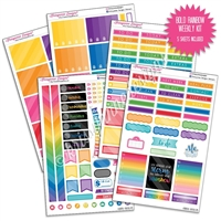 KAD Weekly Planner Kit - Bold Rainbow