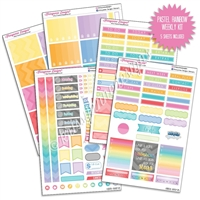 KAD Weekly Planner Kit - Pastel Rainbow