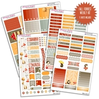 KAD Weekly Planner Kit - Fall Forrest