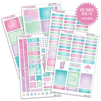 KAD Weekly Planner Kit - April Showers
