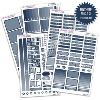 KAD Gemtone Weekly Planner Kit - Navy
