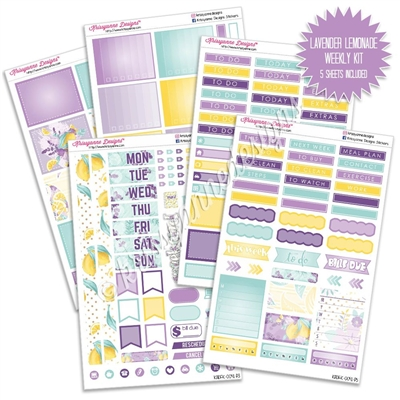 KAD Weekly Planner Kit - Lavender Lemonade