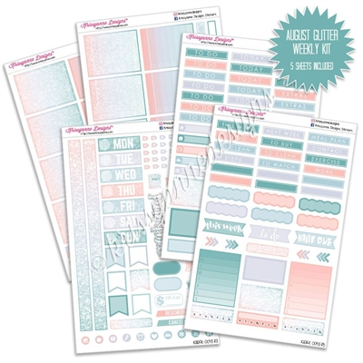 KAD Weekly Planner Kit - August Glitter