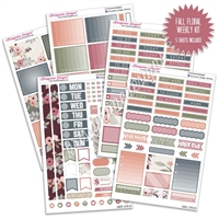 KAD Weekly Planner Kit - Fall Floral