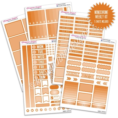 KAD Gemtone Weekly Planner Kit - Orange