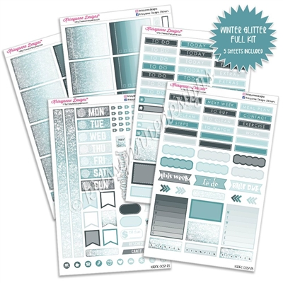 KAD Weekly Planner Kit - Winter Glitter