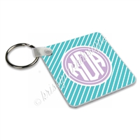 Small Keychain - Solid Stripe Monogram