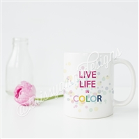 KAD Exclusive Mug - Live Life in Color