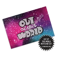Out of This World Notecard Booklet Set - 5 Cards