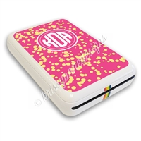 Polaroid Zip Decal - Pink and Yellow Splatter
