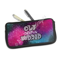 One Sided Zippered Pen Pouch - Out of This World