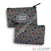 Two Sided Zippered Coin Pouch - Doodle Stars