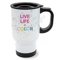 KAD Exclusive Travel Mug - Live Life in Color