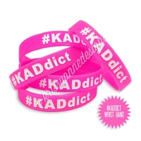 Rubber Wrist Band - #KADdict