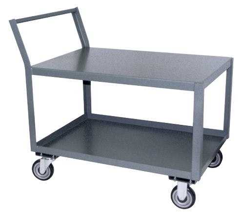 "Kickback Handle Low Profile Cart - 24"" x 36"" Shelf Size"