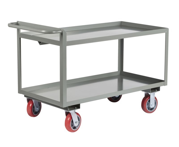 "CC17L - Heavy Duty Low Profile Cart, Lipped Shelves - 24"" x 36"" Shelf Size"