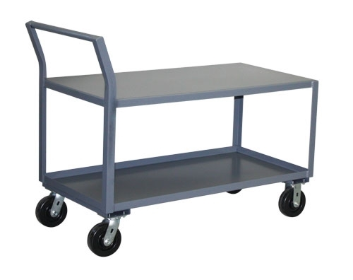 "Heavy Duty Sloped Handle Cart - 36"" x 48"" Shelf Size"