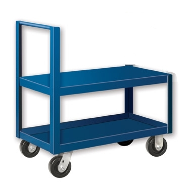 "Straight Handle Low Profile Cart - 18"" x 36"" Shelf Size"