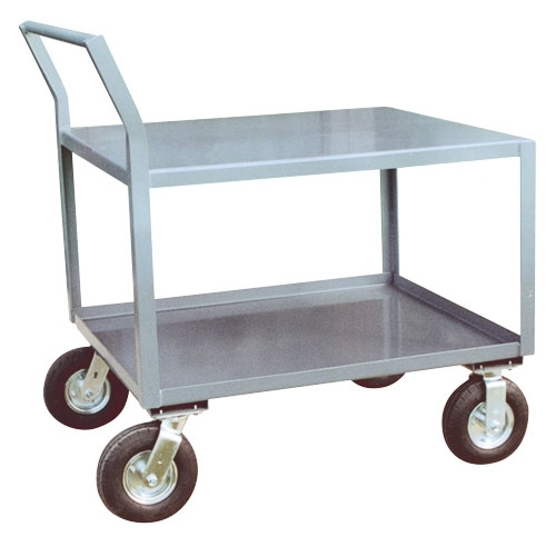 "Low Profile Cart w/ Pneumatic Casters - 30"" x 60"" Shelf Size"
