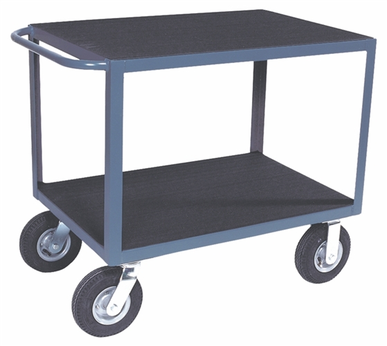 "Two Shelf Angle Frame Instrument Cart - 30"" x 36"" Shelf Size"