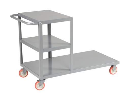 "Combo Shelf Cart & Platform Truck - 30"" x 60"" Deck Size"