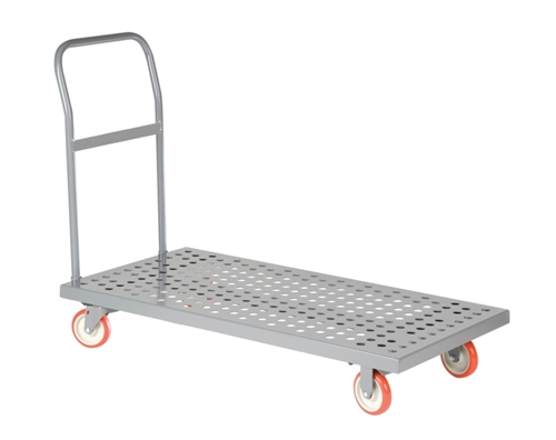 "Perforated Deck Steel Platform Truck - 24"" x 48"" Deck Size"