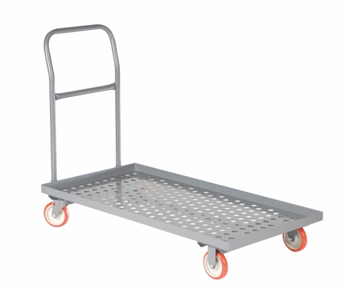 "Perforated Deck Platform Truck w/ Lipped Edge - 24"" x 48"" Deck Size"