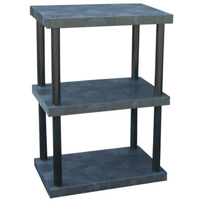 "Three Shelf Solid Top Plastic Shelving, 24"" x 36"" Shelf"