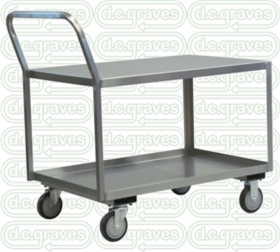 "XL24 - Low Profile Stainless Steel Cart - 30"" x 48"" Shelf Size"