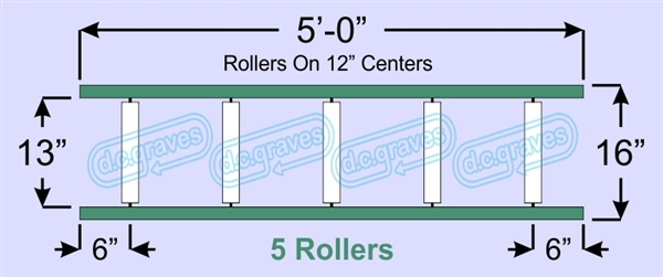 SR30-13-12-05, Steel Gravity Roller Conveyor