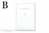 Clairefontaine Triomphe Stationery Tablet - 8.25in x 11.75in - Blank