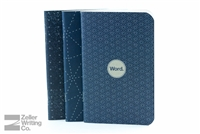 Word Notebooks 3-Pack - Indigo