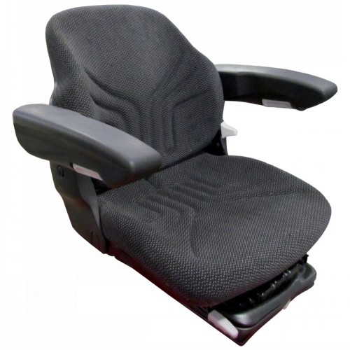 Old Tractor Seat On Air Ride : S seat w air susp new black fabric