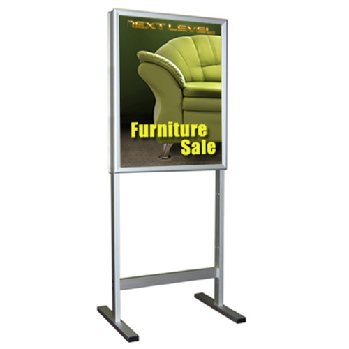 a4 adjustable pedestal floorstanding menu sign stands with black acrylic frames china mainland