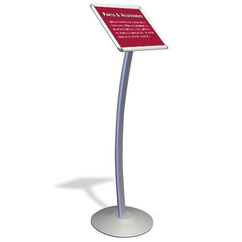 Signs floor sign stands floor stand sign postergrip for Floor banner