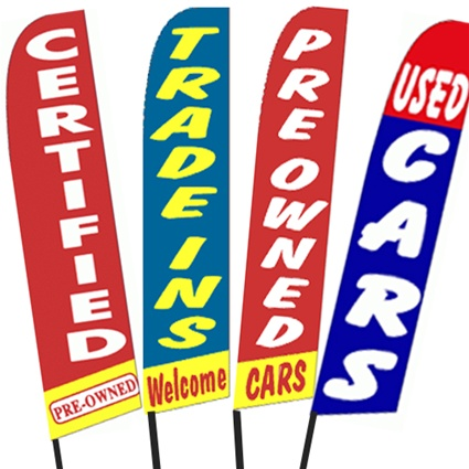 Car Dealer Flags, Swooper Flag, Advertising Banner Flags