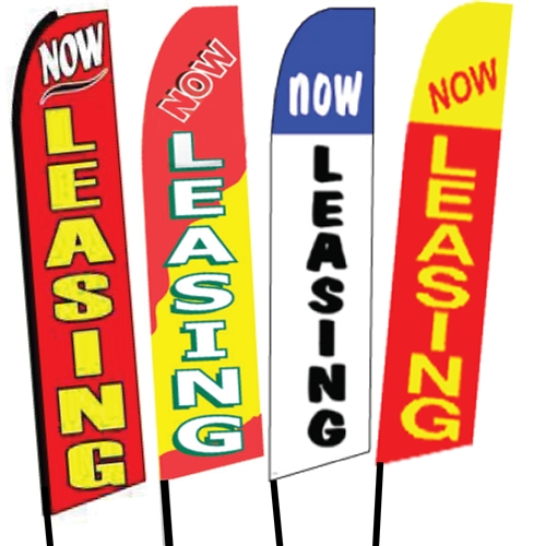 Now Leasing Signs Flags Flag Banner Signs