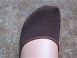 Brown No Show Liner Socks