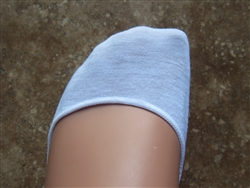 White No Show Liner Socks