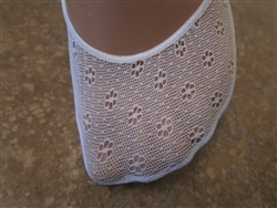 Daisy White Lace No Show Liner Socks