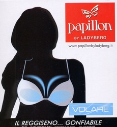 "Exclusive air Push-up bra with ""inflate-deflate"" volume adjustment system by Papillon"
