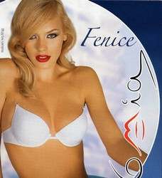 Fenice push up bra with clear back and straps