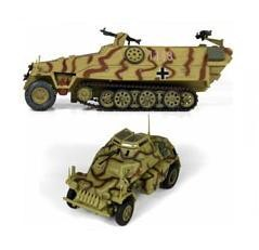 Iron Horses Dual Pack - German Sd.Kfz. 222 Panzerspahwagen & Sd.Kfz. 251/1 Ausf. D Half-Track Combo