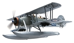 Royal Navy Fairey Swordfish Mk. I Torpedo Plane - L2742, 81 NAS, HMS Courageous, 1937 [Floats]
